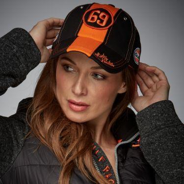 Black & Orange 69 Cap