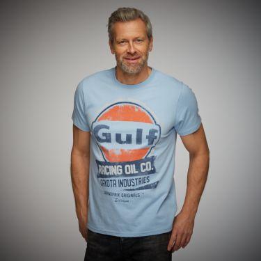Oil Racing T-Shirt gulf blue